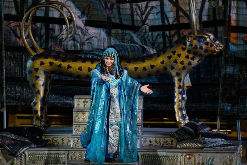 An opera performance of Aida, the Queen of the Area at the Arena Opera Festival in Verona